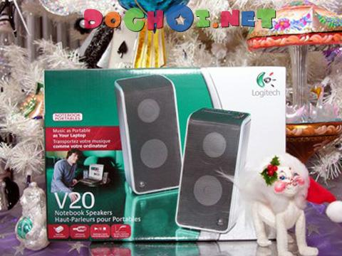 Bộ loa 2.0 Stereo Logitech V20 Notebook Speakers - 2.0 Stereo and Deep Bass in an Ultra-Portable Design.