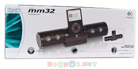 Bộ loa cho iPod - Logitech mm32 Portable Speakers for iPod - High-Performance iPod Docking Station for Home or Travel.