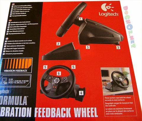 Vô lăng đua xe Logitech Formula™ Vibration Feedback Wheel - Force Feedback Racing Wheel with Comfortable Rubber Grips, and Gas and Brake Pedals.