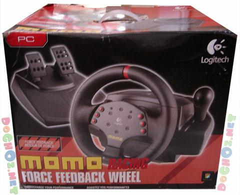 Vô lăng Logitech MOMO® Racing Joystick - Force Feedback PC Racing Wheel Designed By MOMO.