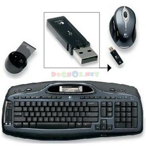 Bộ bàn phím, chuột không dây Logitech Cordless Desktop® MX™ 3200 Laser - Superior Performance, Comfort and Style Designed to Work Seamlessly with Windows Vista™.