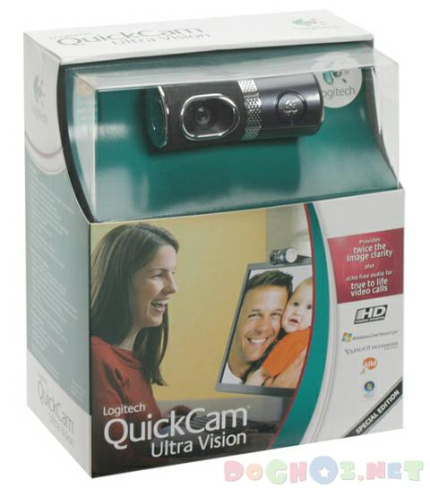 Webcam chuyên dùng cho Notebook - Logitech QuickCam® Ultra Vision, support Vista