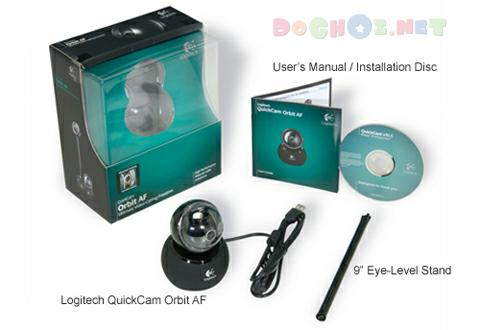 Webcam Logitech QuickCam® Sphere AF - High-Performance Webcam with Motorized Tracking and Carl Zeiss® Optics.